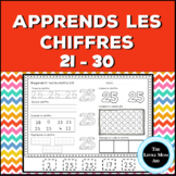 Apprends les chiffres 21 à 30 |French Number Practice 21 to 30