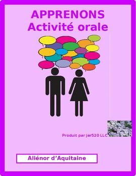 Aliénor d'Aquitaine Apprenons Speaking activity