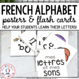 FRENCH Alphabet Flash Cards & Posters - cartes éclairs et affiches d'alphabet