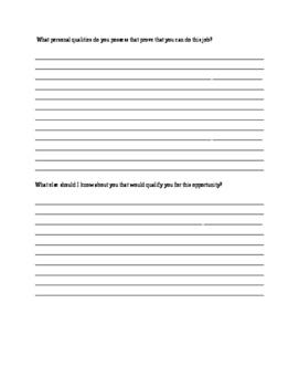 Apprenticeship Resume