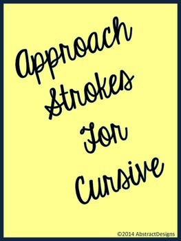 Approach Strokes for Cursive