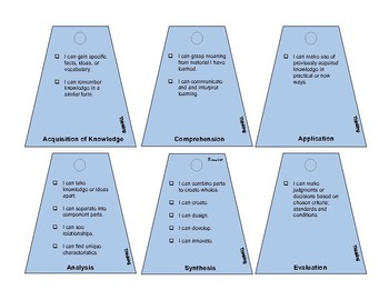 Approaches To Learning I can Statements on Fan Deck