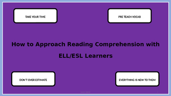 Approaching Reading with ESL students