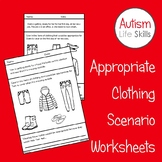 Appropriate Clothing Scenario Coloring Worksheets Autism S