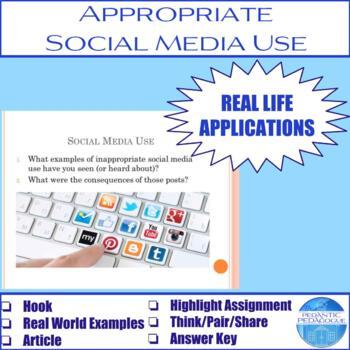Appropriate Social Media Use Activity