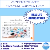 Appropriate Social Media Use Activity
