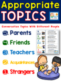 Appropriate Topic Conversations Worksheets for Social Skills Groups