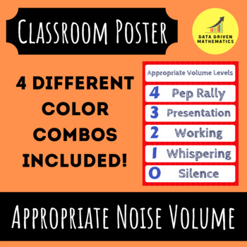 """Appropriate Volume Levels Poster to help with Noise (17"""" x 22"""")"""