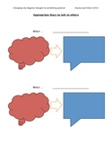 Appropriate Ways to Share your Thinking