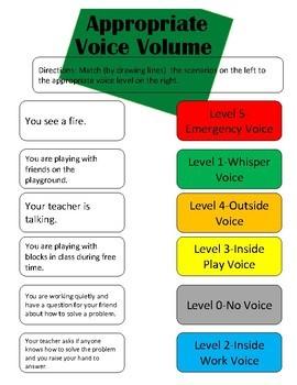 Appropriate voice volume (social skills lesson)
