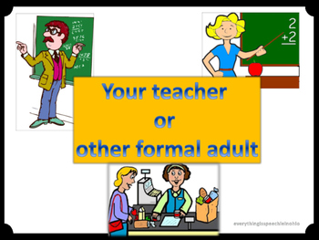 Appropriate vs. Inappropriate / Formal vs. Informal Language Activity