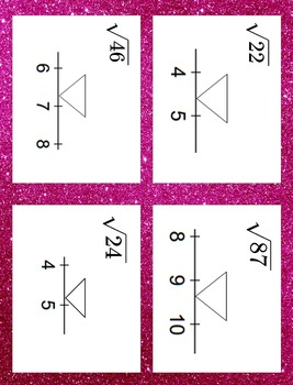 Approximating Irrational Numbers Task Cards Game