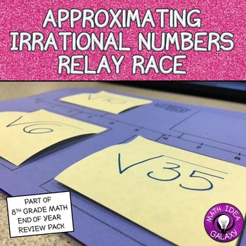 Approximating Irrational Numbers Relay Race