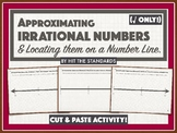 Locating Irrational Numbers (√) on a Number Line (Cut & Paste Activity!)
