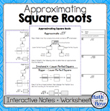 Estimating Square Roots - Interactive Notes and Worksheet