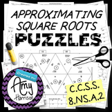 Approximating Square Roots to the Nearest Whole Number - Two Matching Puzzles