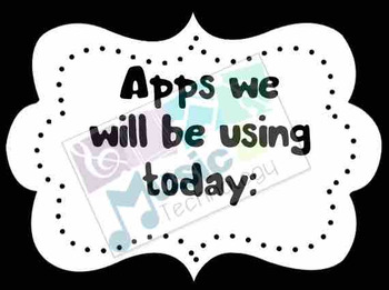 Apps We Will Be Using Today Signs