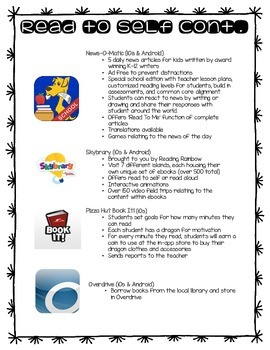 Apps to use with the Daily 5