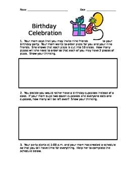 Birthday Party Problem Solving