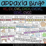Apraxia Bingo: VC, CV, CVC, CVCV, CVCVC, CCVC, and CVCC
