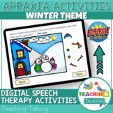 Apraxia Boom Cards Winter Theme - Distance Learning Speech
