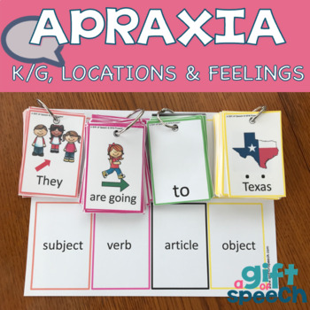 Apraxia Building Utterances Keep Talking 3 Feelings, k and g, & US States