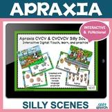 Distance Learning CVCV & CVCVCV 4 Apraxia PDF & BOOM CARDS