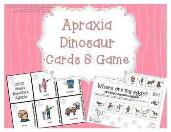 Apraxia - Dinosaur Flashcards & Board Game