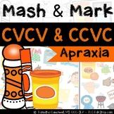 Apraxia Mash & Mark: CVCV, CCVC