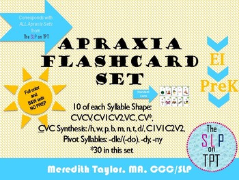 Apraxia Flashcards: Early Syllable Shapes and Consonants