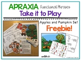 Apraxia Functional Phrases: Apples and Pumpkin Set Freebie