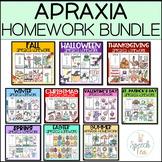 Apraxia Homework  Bundle-Seasons and Holidays