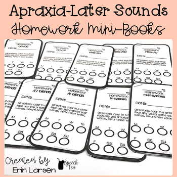 Apraxia Homework Mini-books for Later Sounds
