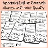 Apraxia Homework Mini-books for Later Sounds