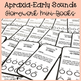 Apraxia Homework Mini-books for Early Sounds | Speech Therapy Homework