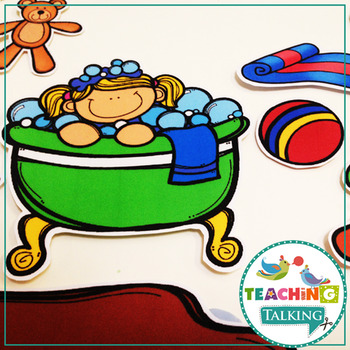 Apraxia of Speech Activities Bath Time Pack