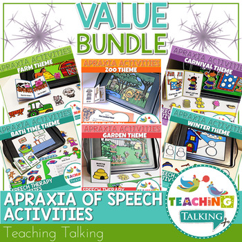Apraxia of Speech Activities - Speech and Language Therapy Value Bundle