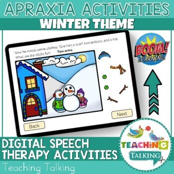 Apraxia of Speech Activities Winter Snow Pack