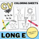 CV Words Speech Coloring for Apraxia of Speech (Long E)