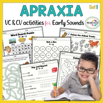 Apraxia Made Fun: Activity Sheets for Early Developing Sounds (No Prep)