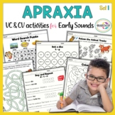 Apraxia of Speech Activities for Early Developing Sounds - VC & CV Activities