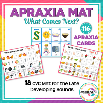Apraxia of Speech: Pattern Worksheets and Apraxia Card (Later Sounds)