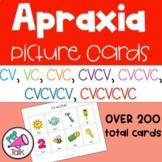 Apraxia Picture Cards CV, VC, CVC, CVCV, CVCVC, CVCVCV, and CVCVCVC
