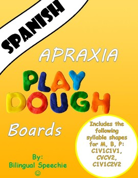 Apraxia PlayDoh board for M, P, B (Spanish)