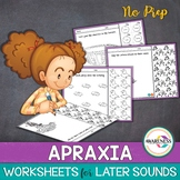 Apraxia Therapy- Practice Sheets:Later Developing Sounds (