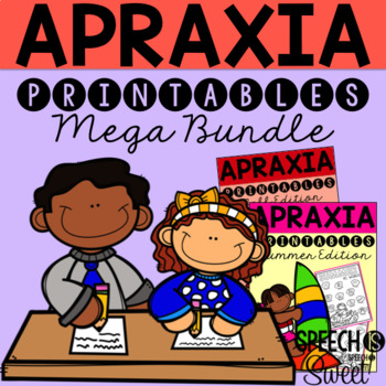 Apraxia Printables Bundle for Speech Therapy