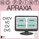 Apraxia Progress Monitoring No Print- CVCV, VC, CV, CVC | Apraxia Screener