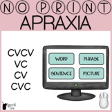 Apraxia Progress Monitoring No Print- CVCV, VC, CV, CVC |