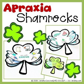 Apraxia Shamrocks: Speech and Language Shamrock Crafts