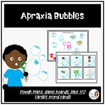 Apraxia Bubble Dough Smash Mats and Games